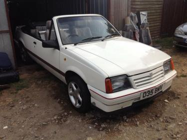 1987 Vauxhall Cavalier Convertible. 1.8i. 5 speed manual. Restoration project. | eBay